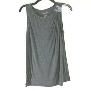 Liz Lange Maternity Tee Shirt Large Tank Top Gray